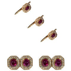 VAN CLEEF & ARPELS Diamond Ruby Dress Set