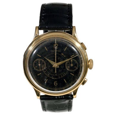 Eberhard & Co. Yellow Gold Chronograph Circa !940