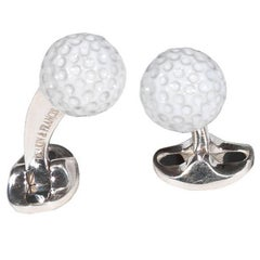 Silver & Enamel Golf Ball Cufflinks by DEAKIN & FRANCIS