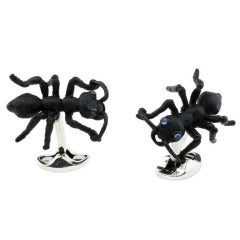 Black Jungle Ant Cufflinks DEAKIN & FRANCIS