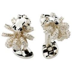 DEAKIN & FRANCIS Silver Octopus Cufflinks