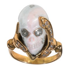 Antique Memento Mori Skull ring