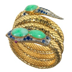 SERAFINI Gold, Jade, Sapphire and Diamond Snake Bracelet