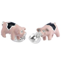 Deakin & Francis Silver Pig Cufflinks