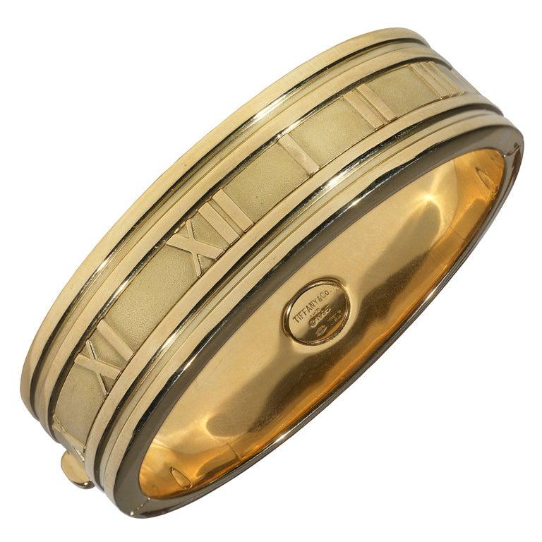 6da2bddcd Tiffany and Co. Large Atlas Gold Bangle Bracelet at 1stdibs