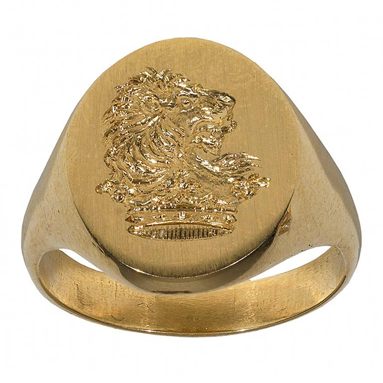 A yellow Gold Signet Ring,1910ca 1