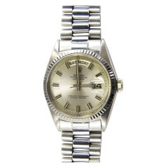 ROLEX White Gold Oyster Perpetual Day-Date Wristwatch Ref 1803