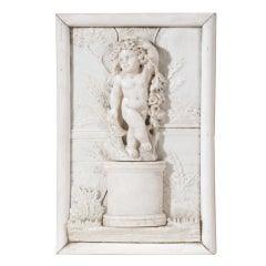 Ivory DIEPPE Plaque Depicting A Putto, 1880 ca