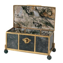 Large Agate Jewel Casket with Bronze Dore Mounts