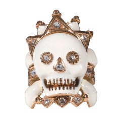 Skull Ring with Crown