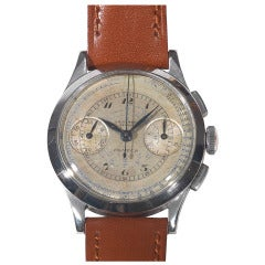 Universal Stainless Steel Compur Multiscale Chronograph Wristwatch