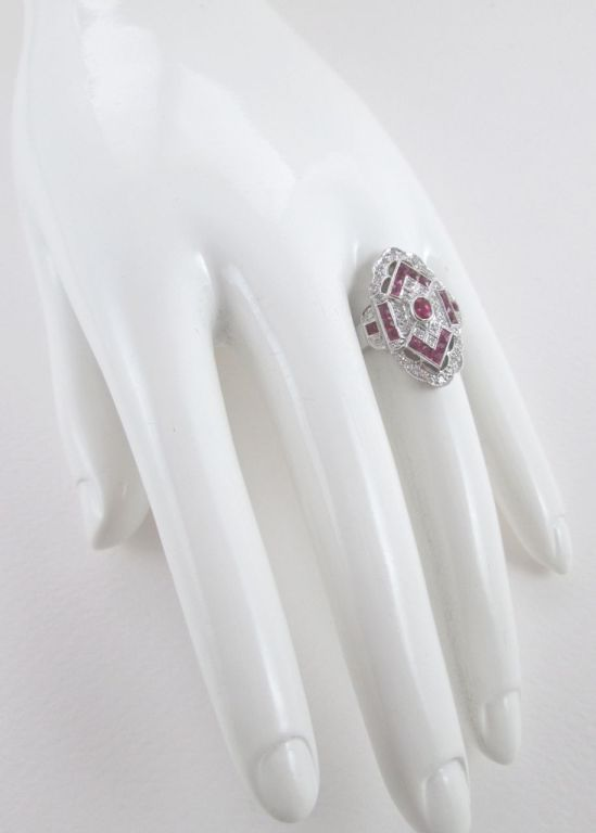 Ruby Diamond White Gold Ring 2