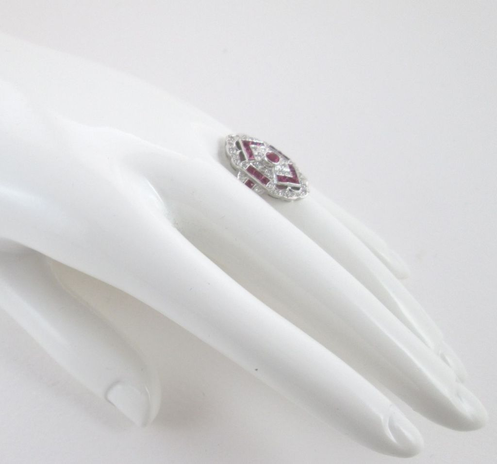 Ruby Diamond White Gold Ring 4