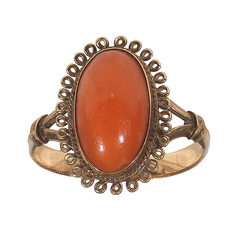 an italian antique coral gold ring c1850 at 1stdibs