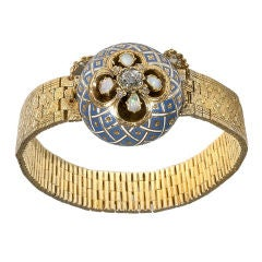 Gold Diamond and Enamel Nicholas I Bracelet, Russia 1843