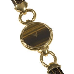 Lady's Gold and Wood Bracelet-Watch Universal Geneve