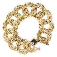 TIFFANY FRANCE Vintage 18K Gold Braided Link Bracelet