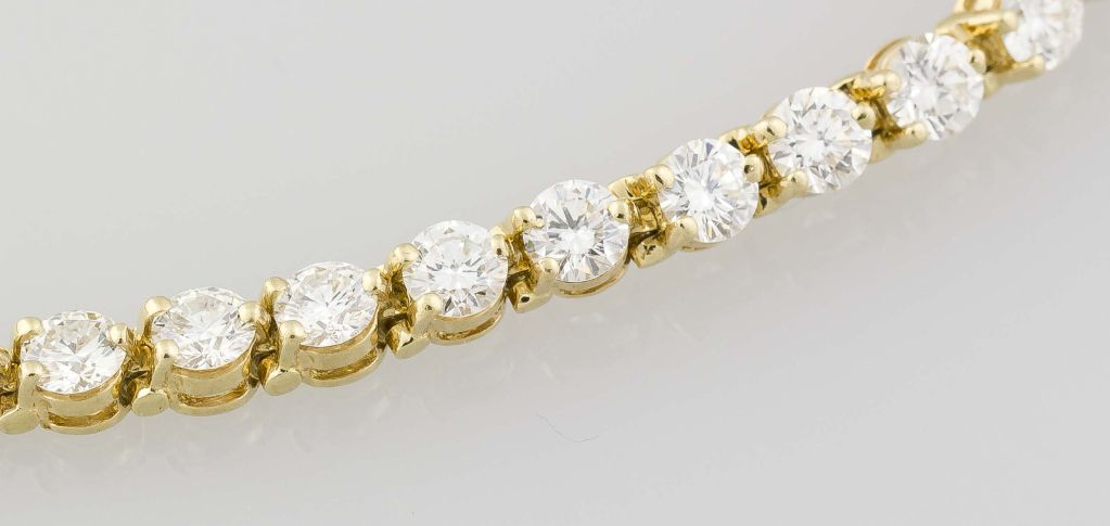 Tiffany And Co 18k Gold Diamond Victoria Bracelet 6 50