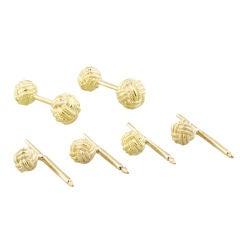 TIFFANY SCHLUMBERGER  Gold Knot Cufflink Stud Set