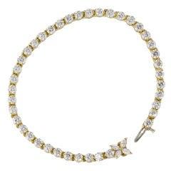 TIFFANY & CO. 18K Gold Diamond Victoria Bracelet 6.50 carat