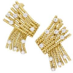 TIFFANY SCHLUMBERGER 18K Gold Platinum Diamond Earrings