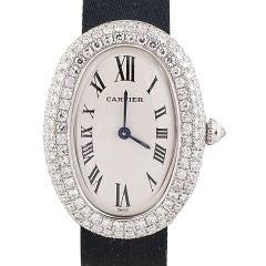 CARTIER Baignoire White Gold Diamond Ladies Watch
