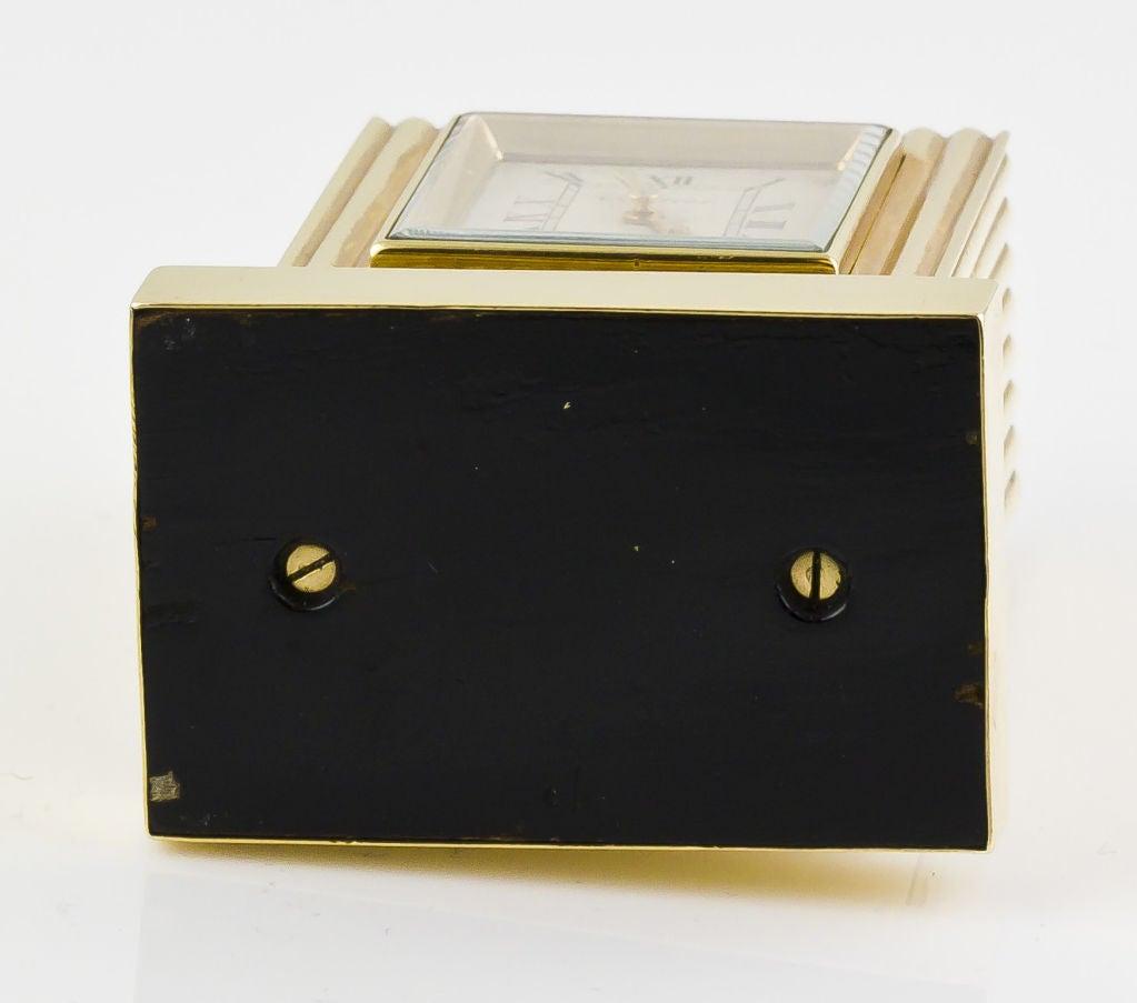CARTIER Retro Gold Desk Clock 10