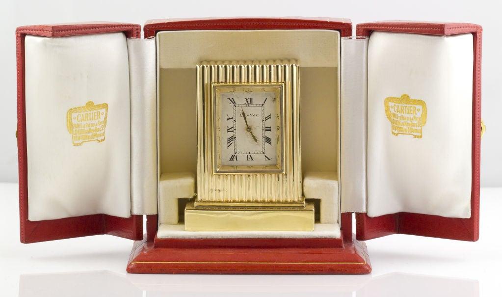 CARTIER Retro Gold Desk Clock 2
