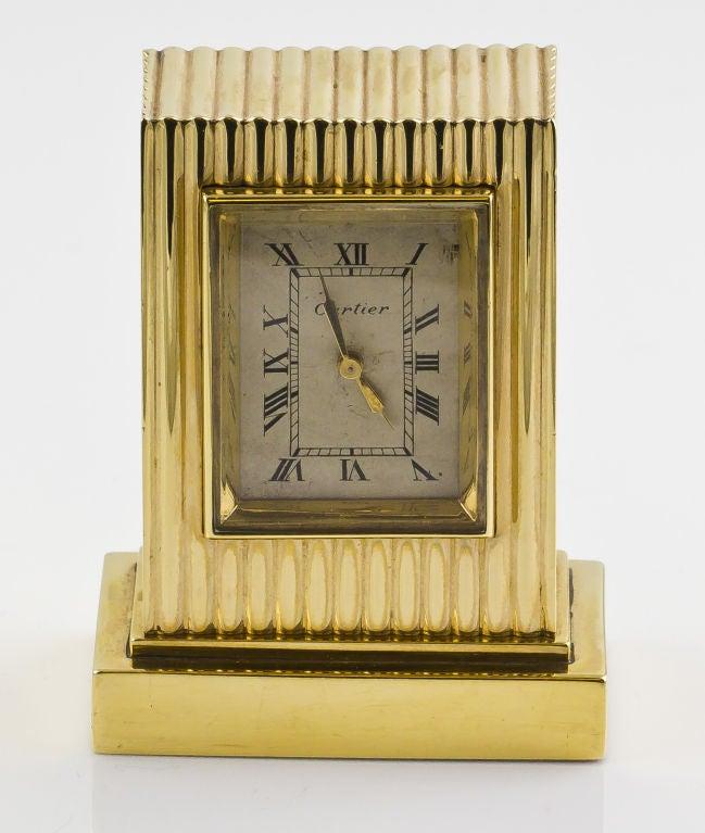 CARTIER Retro Gold Desk Clock 3