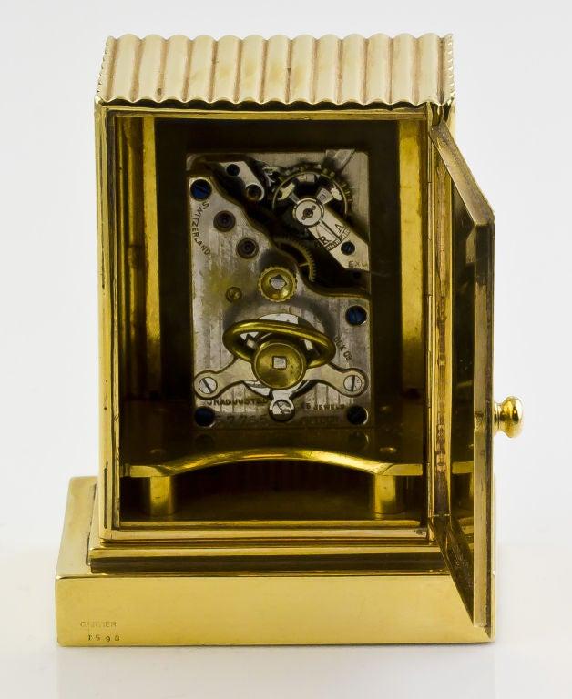 CARTIER Retro Gold Desk Clock 5