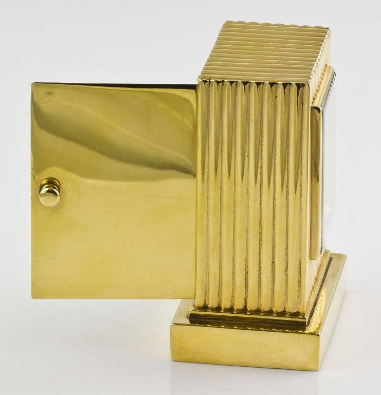 CARTIER Retro Gold Desk Clock 6