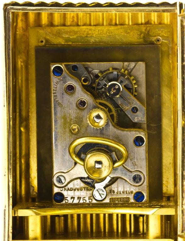 CARTIER Retro Gold Desk Clock 7