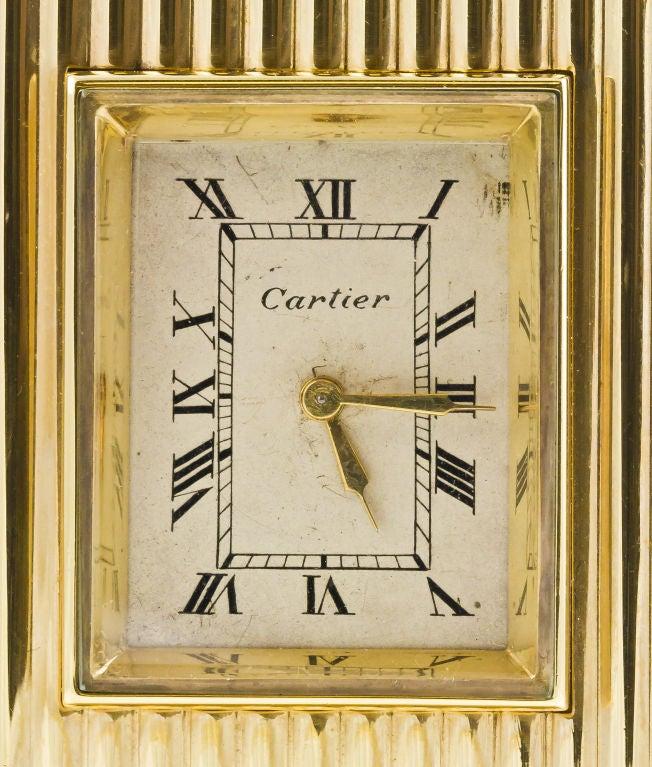 CARTIER Retro Gold Desk Clock 8
