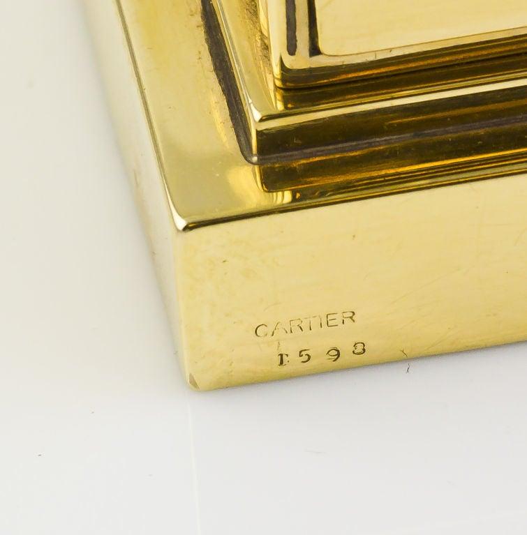 CARTIER Retro Gold Desk Clock 9