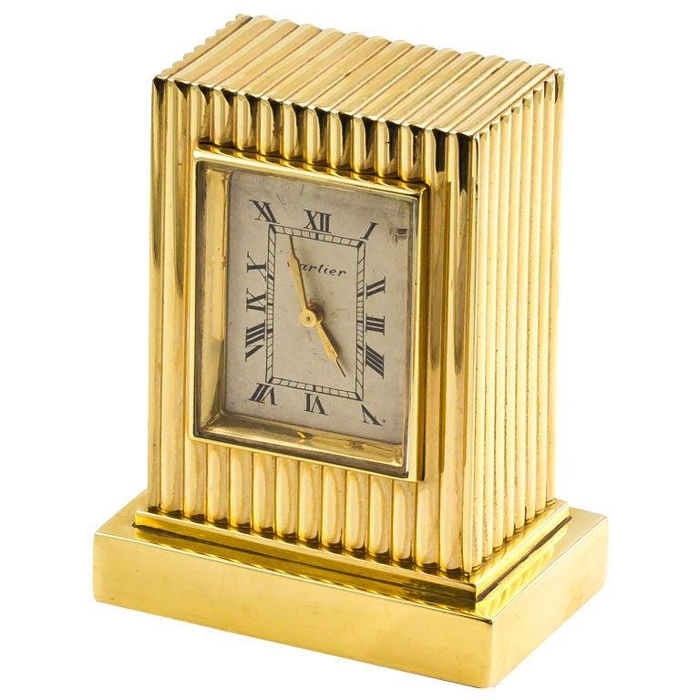 CARTIER Retro Gold Desk Clock 1