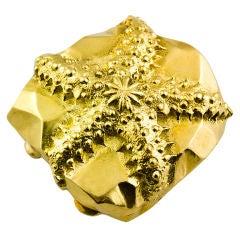 TIFFANY SCHLUMBERGER Estate Gold Starfish Pill Box