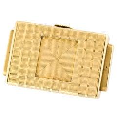 CARTIER FRANCE Deco Gold EWC Traveling Shutter Clock