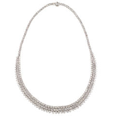 GARRARD Impressive 35ct Diamond Platinum Necklace