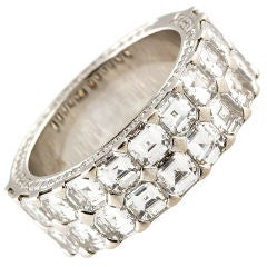 Chopard Ice Cube Diamond Gold Band Ring
