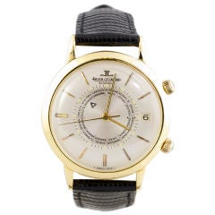 JAEGER-LECOULTRE Gold World Time Memovox Watch 39mm