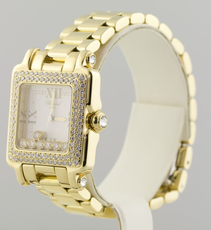 CHOPARD HAPPY SPORT Gold 7 Floating Diamond Watch 2
