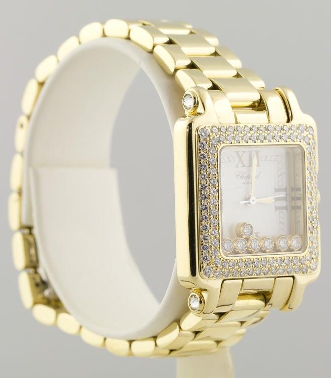 CHOPARD HAPPY SPORT Gold 7 Floating Diamond Watch 3