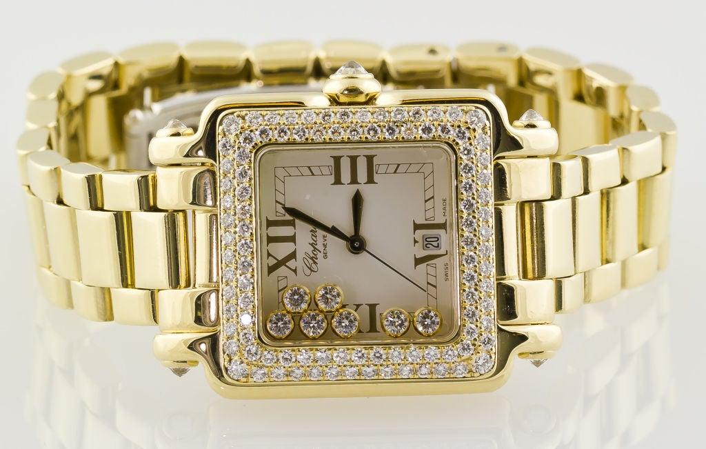 CHOPARD HAPPY SPORT Gold 7 Floating Diamond Watch 4