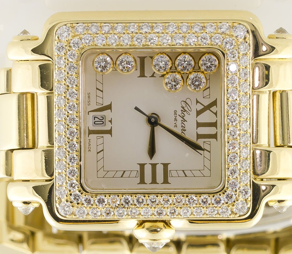 CHOPARD HAPPY SPORT Gold 7 Floating Diamond Watch 5