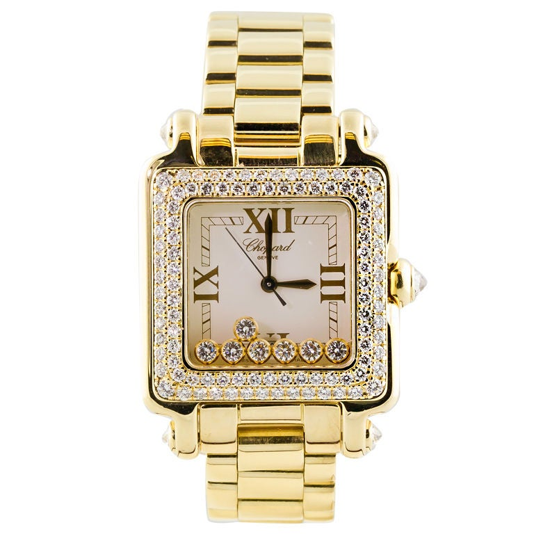 CHOPARD HAPPY SPORT Gold 7 Floating Diamond Watch 1