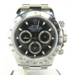 Stainless Steel ROLEX DAYTONA Chronograph Wristwatch