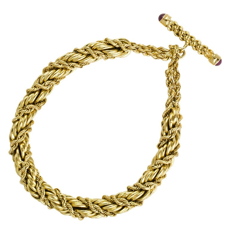 and co schlumberger twisted gold rope toggle