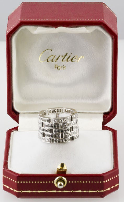 CARTIER Diamond Maillon Panthere 5 Row White Gold Band 2