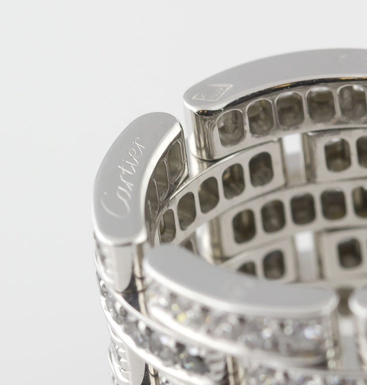CARTIER Diamond Maillon Panthere 5 Row White Gold Band 4