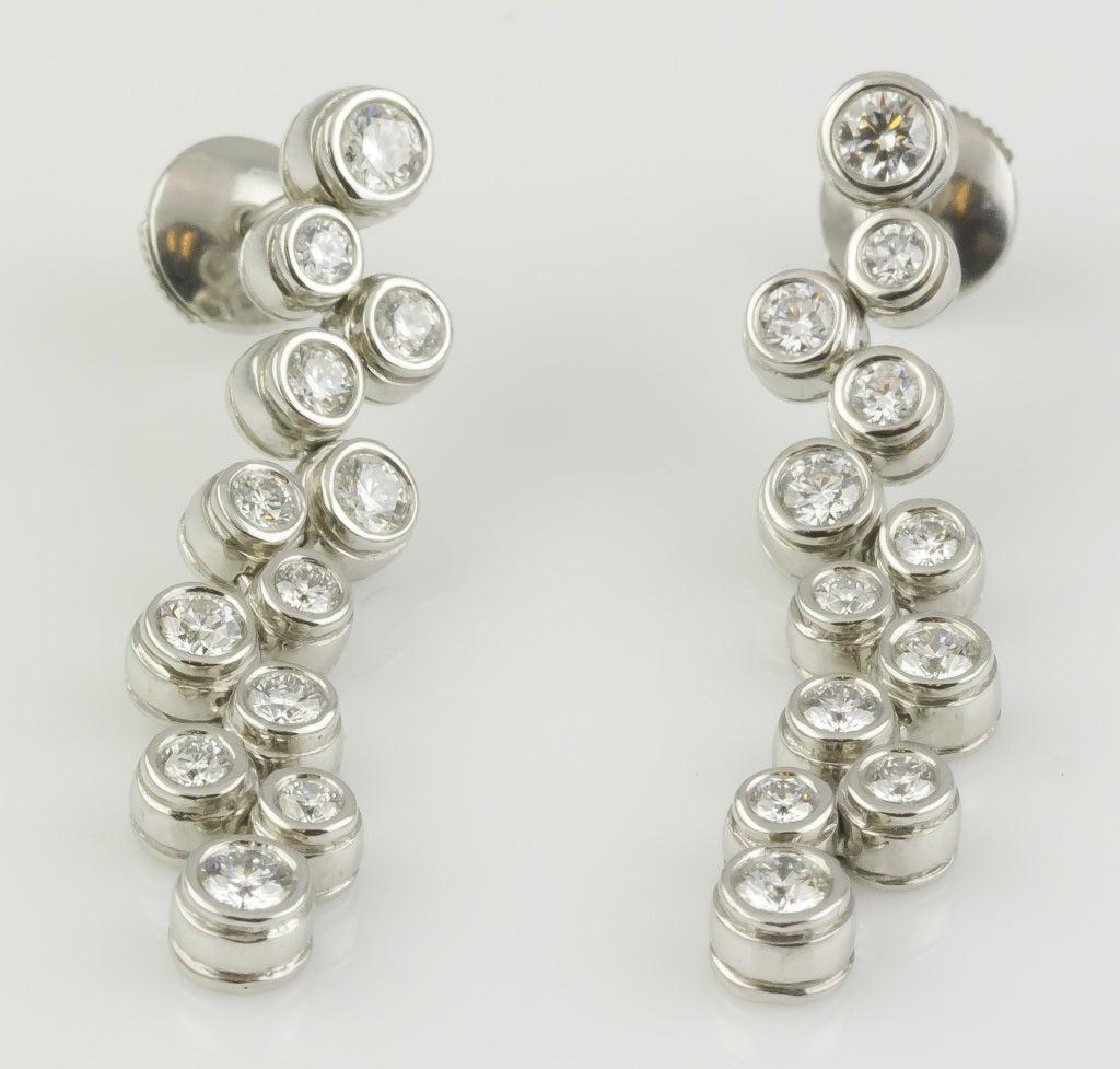Tiffany And Co Platinum Diamond Bubbles Drop Earrings At. Zulu Braceletbear Brooch. Miu Miu Earrings. Black Titanium Bands. Sterling Silver Bracelet. Center Diamond. Facets Diamond. Ring Design. Crocodile Leather Watches